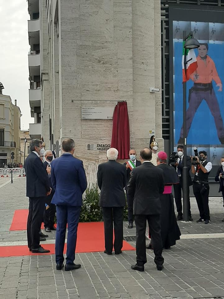 Inaugurazione ufficiale dell'Imago Museum a Pescara con il Presidente Sergio Mattarella